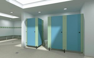 Compact Grade Toilet Cubicles
