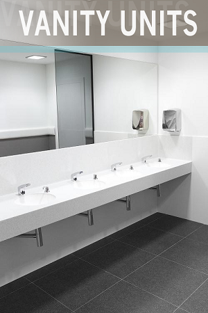 Vanity Units for Washrooms & Changing Rooms