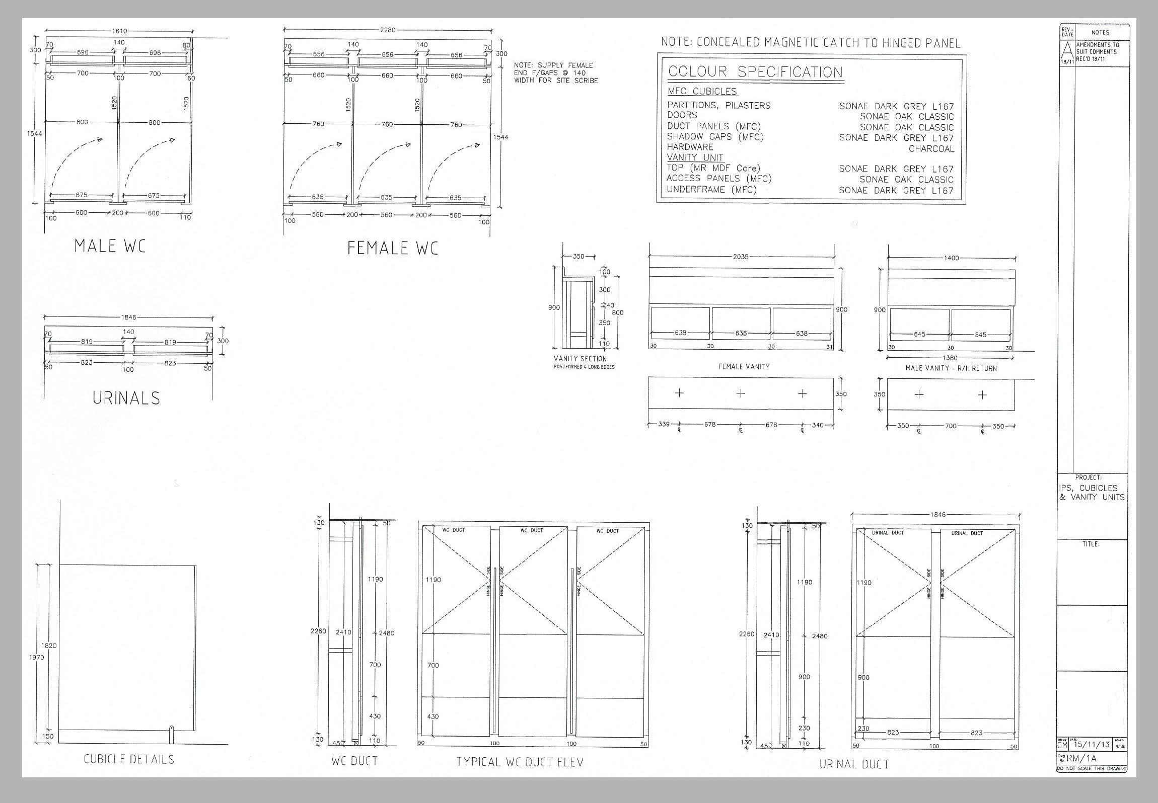 Cubicle System CAD Drawings