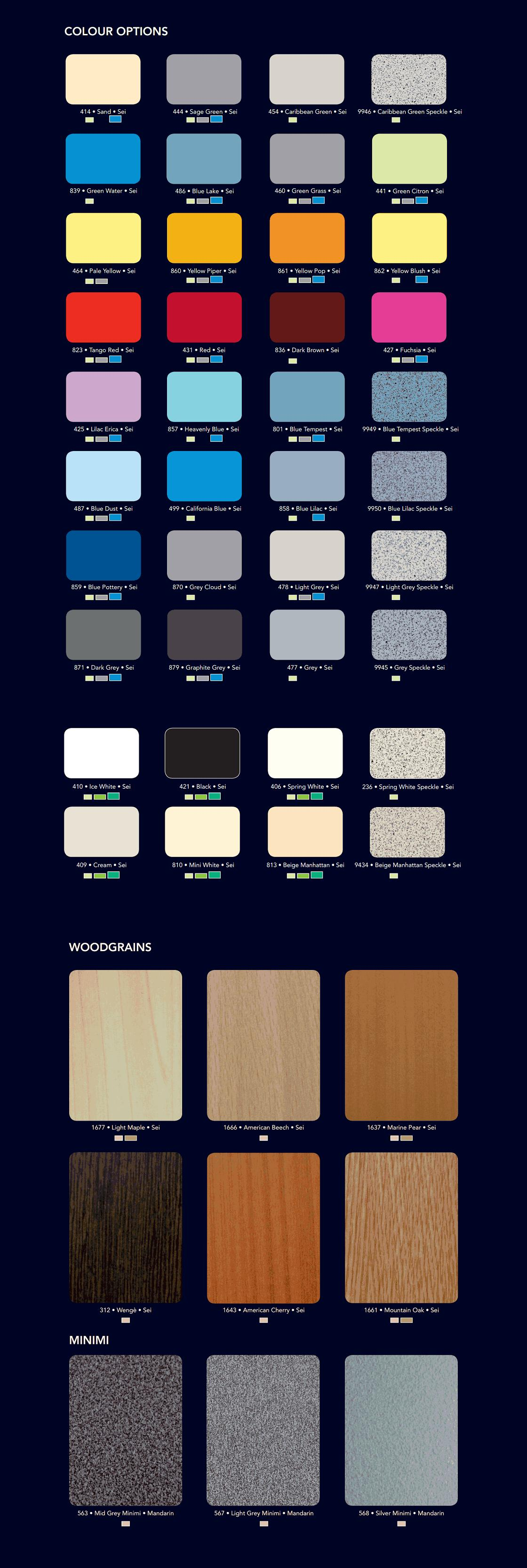 premier range colour options3