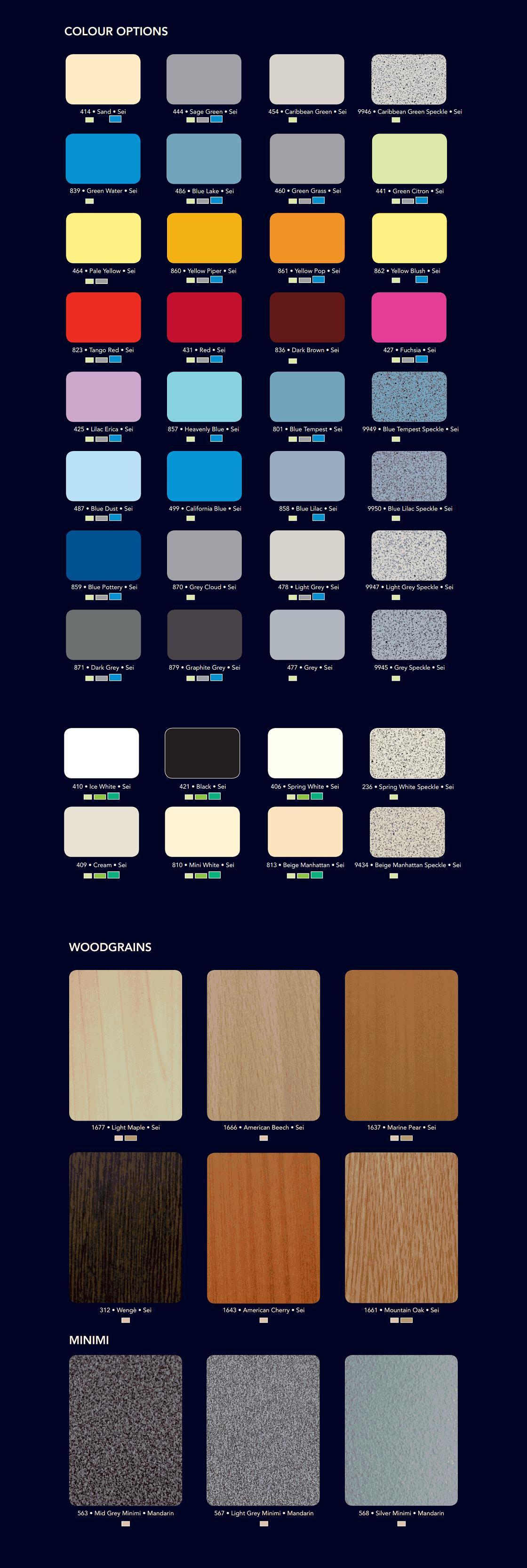 premier range colour options3