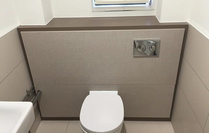 office toilet cubicle and WC