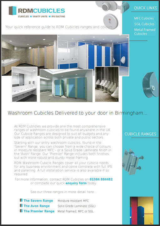 Take a look at our new cubicle washroom colour ranges b...